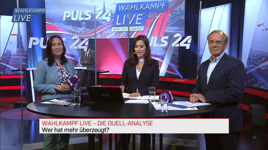 Ergebnisse der Live-Umfragen während der Puls4 - Duelle GRW Wien 20